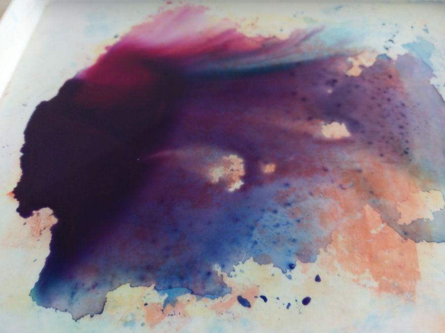 Farbstreifen Advent Mail Art 2017